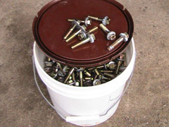 Nuts, Bolts and Washers for Grain Bin Jacking