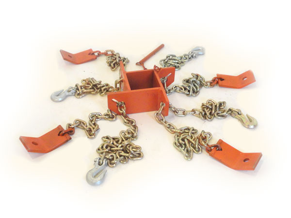 Heavy Duty Center Ring Connection Bracket and Chains