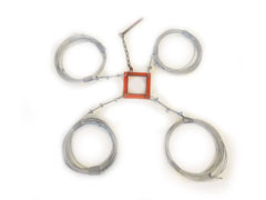 Center pole center ring cable kit for anchoring.