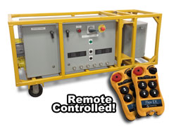 Remote-Controlled 3 Phase Power Unit